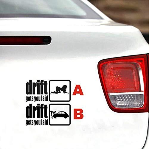 "2 pc White5/"" Funny Eat Sleep JDM Die Cut Drifting Racing Car Vinyl Decal Sticker"
