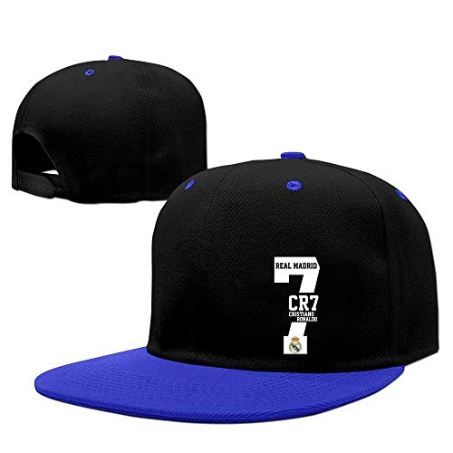 Real Madrid CR7 Cristiano Ronaldo Men Flexfit Baseball Snapback Cap Royalblue Royalblue