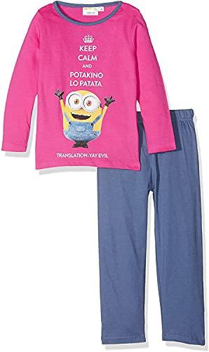Pijama largo para niña, diseño de los Minions Despicable Me rosa y azul de 3 a 8 años (Age,...
