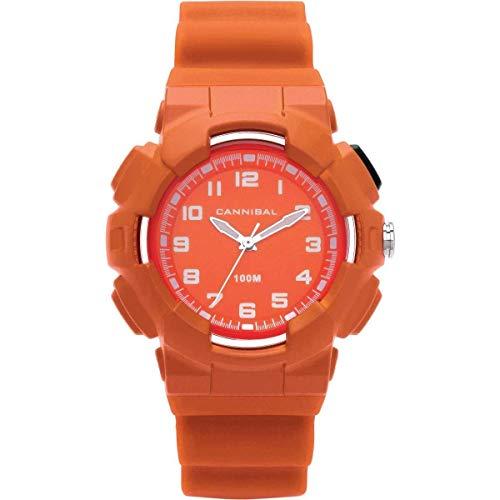 Cannibal Active Boys - Reloj de correa de plástico, color naranja (sumergible) CJ272-26
