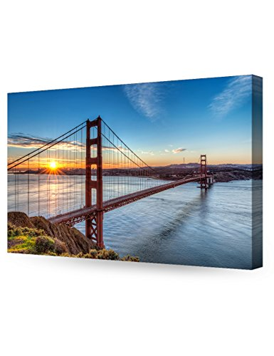 DECORARTS - Golden Gate Bridge, San Francisco, Califonia. Giclee Canvas Prints for Wall Decor. 30x20