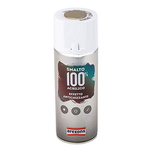 AREXONS SMALTO 100% ACRILICO ANTICHIZZANTE Smalto spray Bronzo 400 ml vernice spray universale, smalto acrilico resine di alta qualità, essiccazione rapida, bomboletta spray, uso facile