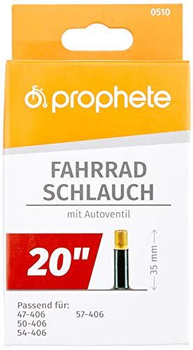 Prophete Fahrradschlauch 20 X 1,75-20 X 2,125 (47/57-406), schwarz, L