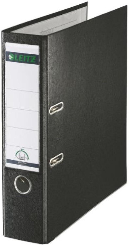Leitz 180 ° Kunststoff Aktenordner Foolscap 80 mm (schwarz), 10 Stück B000I6PPBK | Erschwinglich