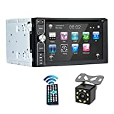 EZoneTronics Free Backup Camera Included + Double Din Car Stereo DVD Player Radio Bluetooth 2 Din Capacitive Touch Screen Support USB SD 1080P Multi Language Remote Control