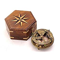 Roorkee Instruments India Captain Sundial Compass with Box Dolond London Sun Clock