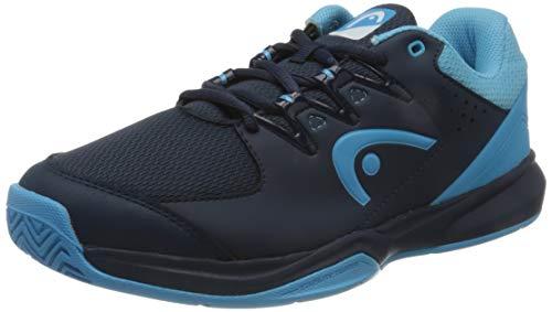 HEAD Grid, Zapatillas para Squash Hombre, Azul Oscuro Aqua, 44.5 EU