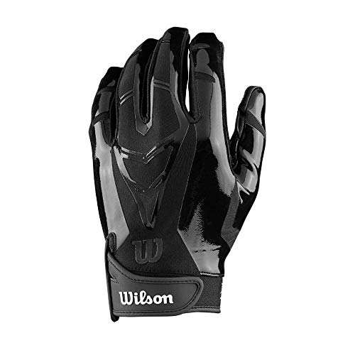 Wilson Football The MVP Receiver Receivers Gloves Youth Large WTF9336BKL