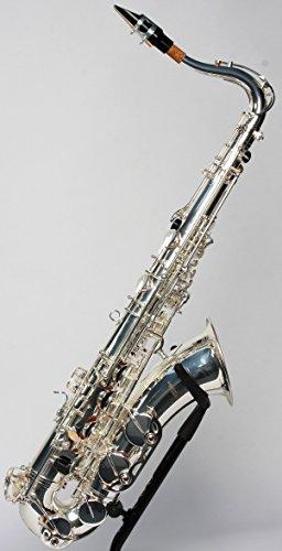 Original SYMPHONIE WESTERWALD Design Tenorsaxophon Tenor Saxophon, echt versilbert, inkl. Luxus-Hartschalenkoffer und Zubehör, Neu