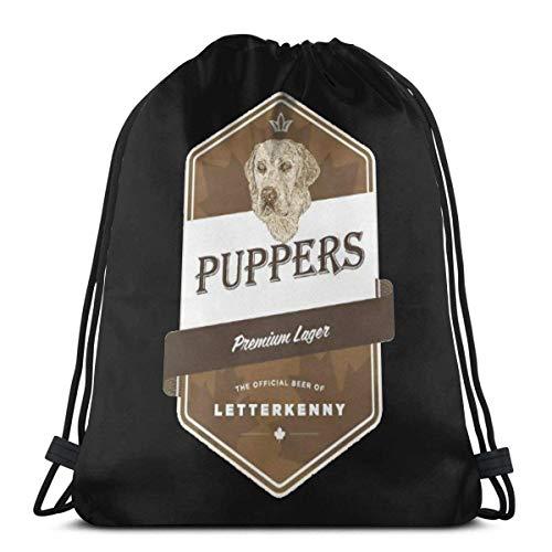 XCNGG Puppers Premium Bolso con cordón más Grande Unisex Fitness School Sport Bag Classic Impreso diseñado para Hombres Mujeres