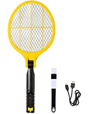 ValueHall ElectricFly Swatter Foldable USB Rechargeable Mosquito Killer BugZapper Safe to Touch Mesh Indoor and Outdoor Pest Control V7078A