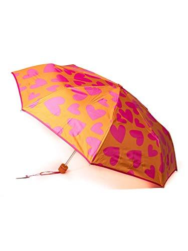 Paraguas Plegable Agatha Ruiz de la Prada Naranja con Corazones