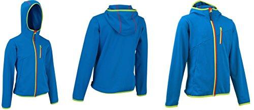 Quechua Exclisive Kinder Unisex Fleecejacke, Fleece Jacket, Hoodie Fruehling Pullover, Blau (105-114 cm / 5-6 Jahre)