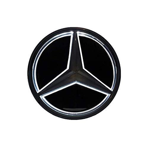 Preisvergleich Produktbild Motorfox LED Emblem Auto Logo Kühlergrill Emblem Schwarz Beleuchtetes Stern GLC GLS GLE