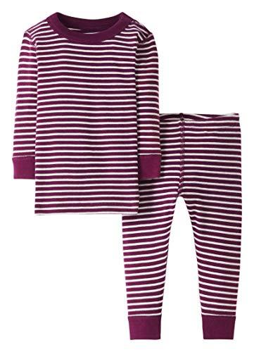 Moon and Back by Hanna Andersson Pyjama 2 pièces à rayures, à manches longues, en coton bio pour tout-petits, bébés, baie, 3 ans (87-97 CM)
