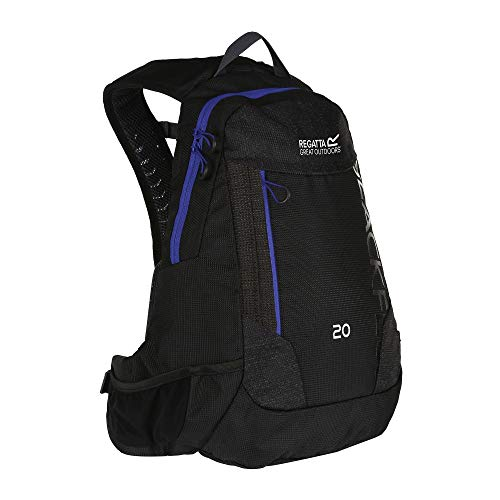 Regatta Blackfell III Reflective Hardwearing Hydration Backpack - Black/Surfspray, 20 Litre