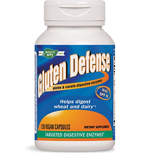 Nature's Way Gluten Defense, Gluten & Casein Targeted Digestive Enyzmes, 120 VCaps (Packaging May Vary)