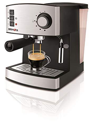 Mini Moka 999319000 Cafetera Espreso 15 Bar / 850 W / 1,6 L, 1 cups, 0 Decibeles, Acero inoxidable