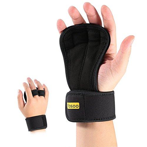 Guantes Para Crossfit 1 par unisex Peso ajustable pesas guantes con relleno anti-sudor para evitar el apoyo callos y neopreno muñeca WODS, entrenamiento de la gimnasia, fitness, Flexión de brazos