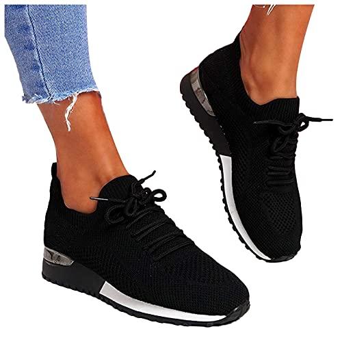 Dasongff Laufschuhe Damen Schuhe Sneakers Große Größe Sportschuhe Turnschuhe Outdoor Joggingschuhe Leichtgewichts Atmungsaktiv Walking Schuhe Fitness Running Shoes Fitnessschuhe