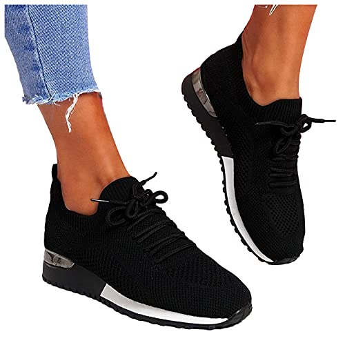 Dasongff Zapatillas de correr para mujer, zapatillas de gran tamaño, zapatillas de deporte, zapatillas de deporte para exteriores, ligeras, transpirables, para caminar, fitness, running, fitness