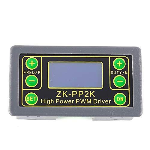 Generador de señal ZK-PP2K, generador de frecuencia de pulso 8A módulo de controlador LCD módulo de ciclo de frecuencia de pulso 1Hz-150KHz controlador de motor pantalla LCD