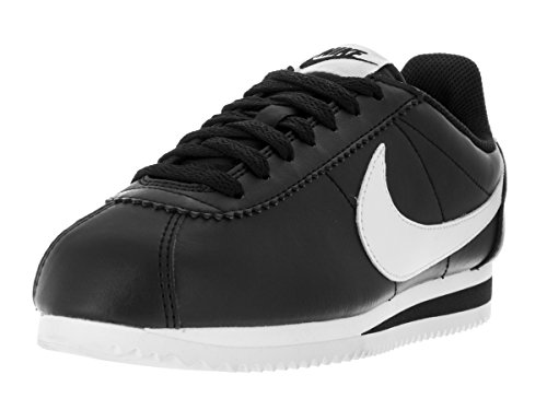 Nike Wmns Classic Cortez Leather, Scarpe da Corsa Womens, Black/White-White, 40 EU