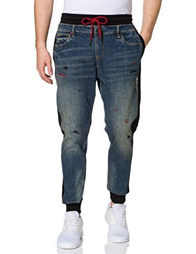 Desigual Denim_Gerard Pantalones Informales, Azul, 38 para Hombre