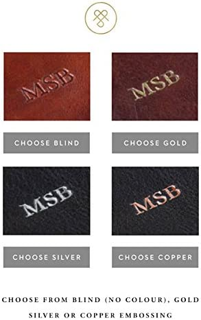 Marr/ón Chestnut Tan rufeno Maxwell Scott/® Personalizada Lujo Italiano de Piel para hombre gafas de lectura Case