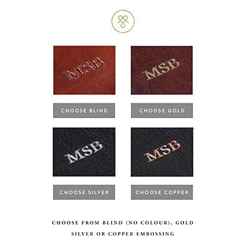 Maxwell Scott Men's Leather Business Attache Case - Strada Black