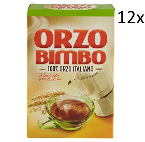 12x Orzo Bimbo gemahlen Mokka lösliche Gerste Getreidekaffee Kaffee 500 gr