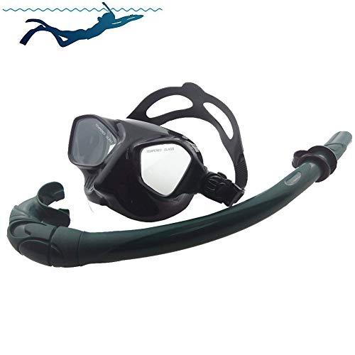 SDFHTYN Gafas Vidrio Templado Tubo respiración Silicona