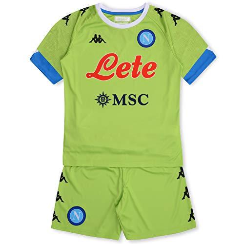 SSC Napoli - Kit de porteros Away 2020/21 Unisex para niños, Verde Lima y Azul, 3 años