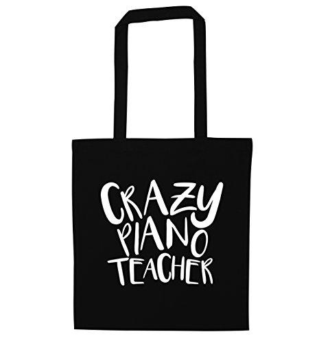 Flox Creative Tragetasche Crazy Piano Teacher Gr. Einheitsgröße, Schwarz