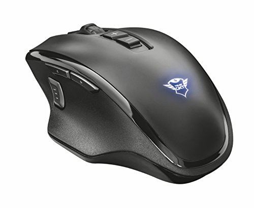 Trust Gaming GXT 140 Manx PC Gaming Maus (Wiederaufladbar und Kabellos) schwarz