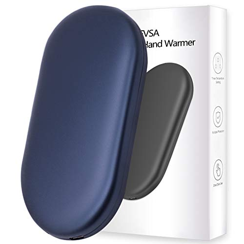 FVSA Rechargeable Hand Warmer, 10000mah Graphene Electric Hand Warmers Rechargeable, (13-18 houts Portable USB Hand Warmer. All Side Hot Hands for Winter Camping Gadgets Outdoor Sport Ski Tech Gift