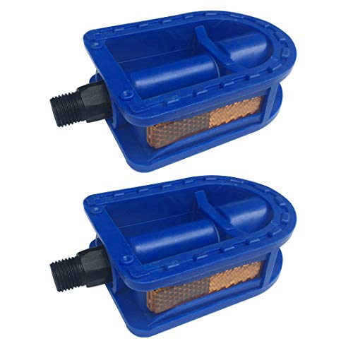 N3od3er Upgraded Kid's Bike Pedal 1/2-Inch Bike Pedals 1 Pair Kids Spindle Pedals Resin fit 12' 14' Youth Bikes (Blue)