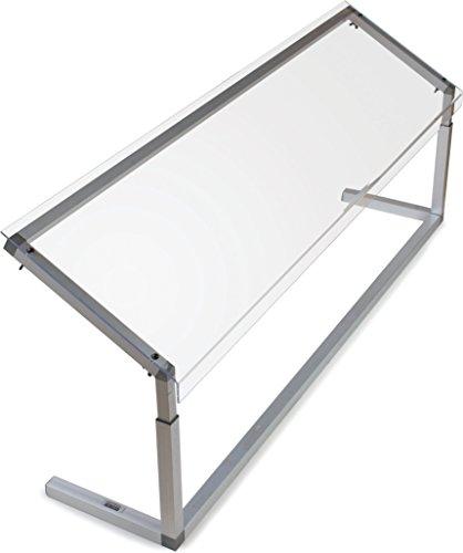 Carlisle 926007 Acrylic Adjustable Single Sided Sneeze Guard with Aluminum Frame, 60-1/4' Length x 12.44' Depth, Clear