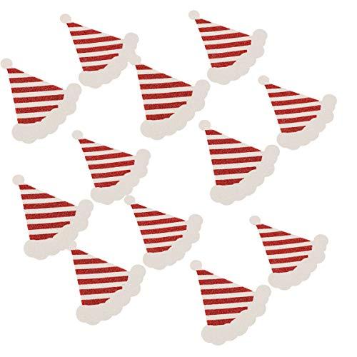 SOIMISS 10 Pares de Cubierta de Pezón de Navidad Sombrero de Navidad Creativo Pétalo de Pezón Pétalo de Mama de Vacaciones para Mujer Accesorio de Ropa Interior
