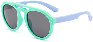 New Children's Boys and Girls with Silicone Uv Protection Sunglasses,Green