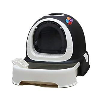 Rory Dissociables De Toilette pour Chat, Plus Grand Espace Litière Tiroir Type Plateau Boîte avec Pelle, Facile À Assembler 52 * 42 * 40Cm,G