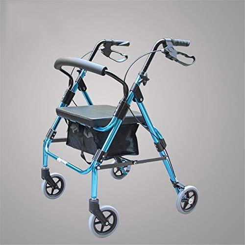 QINAIDI Andador con Ruedas para Trabajo Pesado con Asiento Acolchado Grande de hasta 400 LB de Capacidad, Andador con Movilidad,1
