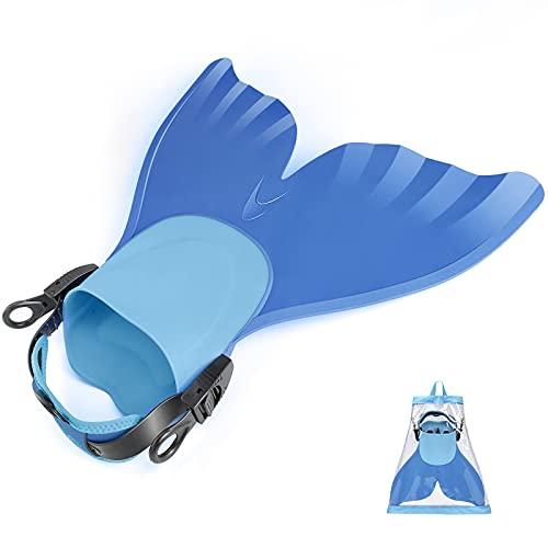 FOLOEO Aletas de sirena para niños, aletas de buceo, aletas de natación monofina, aletas de sirena adecuadas para niños y niñas