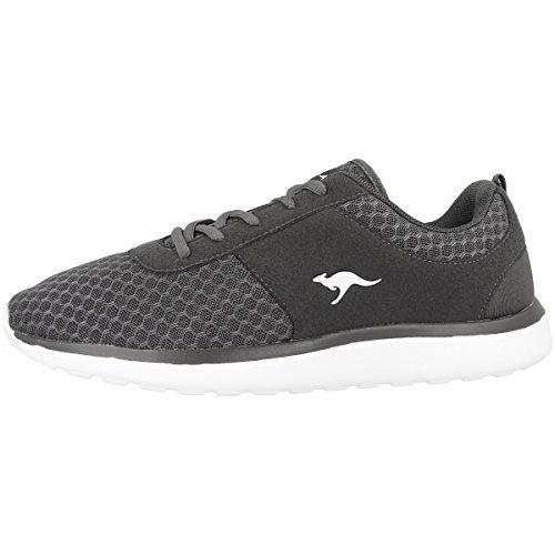 KangaROOS Bumpy Sneaker Damen, Grau(dk Grey 230), 38 EU