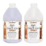 Bar & Table Top Epoxy for Countertops, Tables, Bartops, Epoxy Art & More - 1:1 Ratio - 1 Gallon Epoxy Resin - UV Resistant, Crystal Clear, Zero VOC