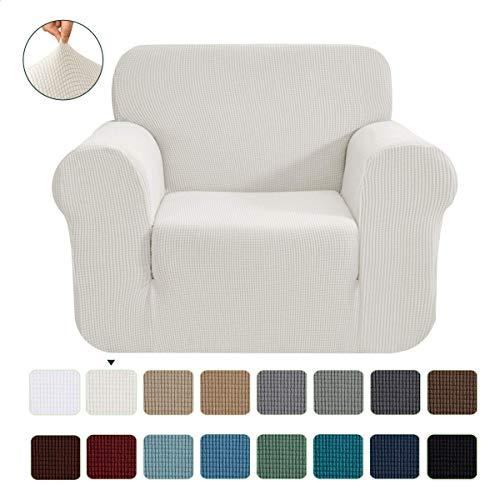 CHUN YI 1-Stück Jacquard Sofaüberwurf, Sofaüberzug, Sofahusse, Sofabezug für Sofa, Couch, Sessel, mehrere Farben (1 Sitzer, Beige)