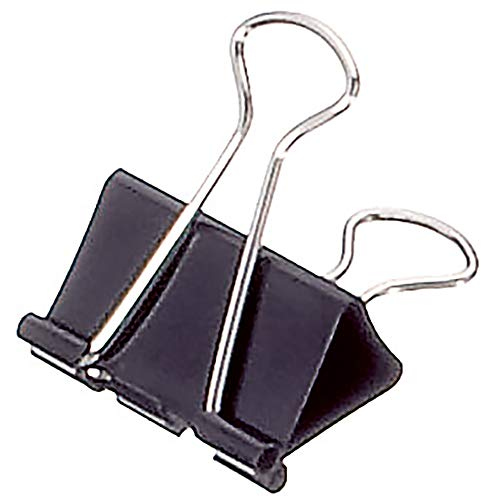 Soennecken Foldbackklemmer Breite: 32 mm, max. Klemmdicke: max. 13 mm, schwarz, 12 St./Pack.