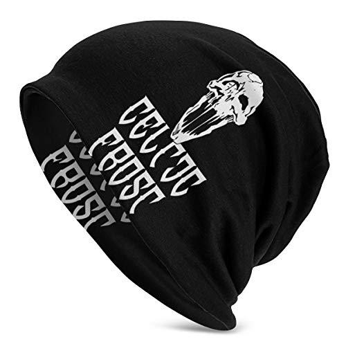 Unisex Celtic Frost Beanie Caps Fun Skull Hat Casual Knit Caps Sun Hat Black