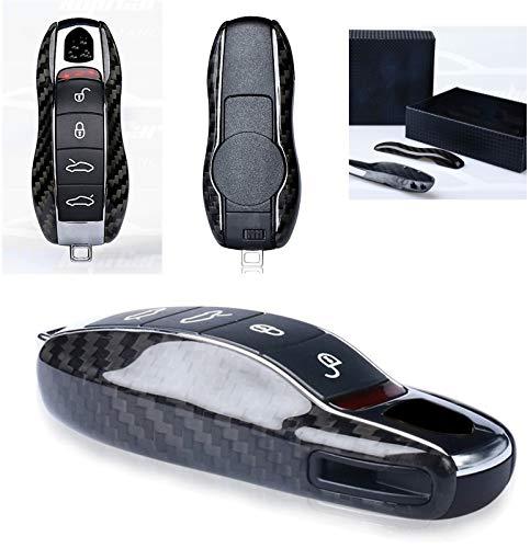 Max Auto Carbon 100% Carbon Echt Carbon Schlüssel Cover Hülle passend für 911 Cayenne Macan 718 Caymann Panamera Boxster 718