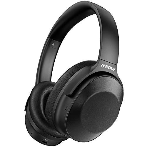 Noise Cancelling Kopfhörer, Mpow Bluetooth Wireless Over Ear Kopfhörer mit tiefen Bässen, Memory-Protein-Ohrpolster Kopfhörer, 30-Std ANC Kopfhörer für die Arbeit, Reisen, TV, PC